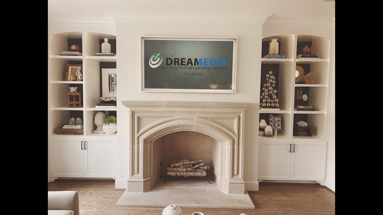 White Fireplace Mantels With Tv Above