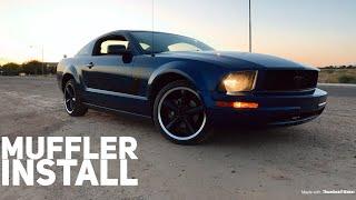 Installing Pypes Axelback Exhaust Mustang V6 4.0