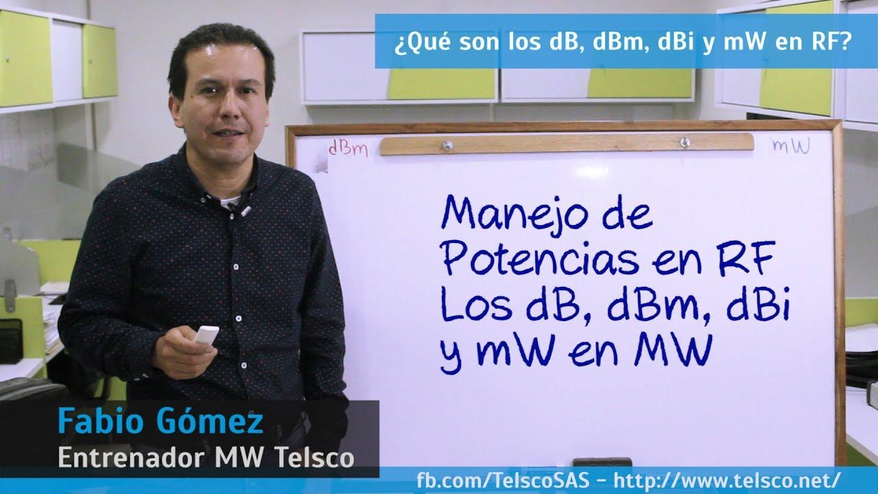 Download Potencias en RF ¿Qué son los dB, dBm, dBi y mW en MW?