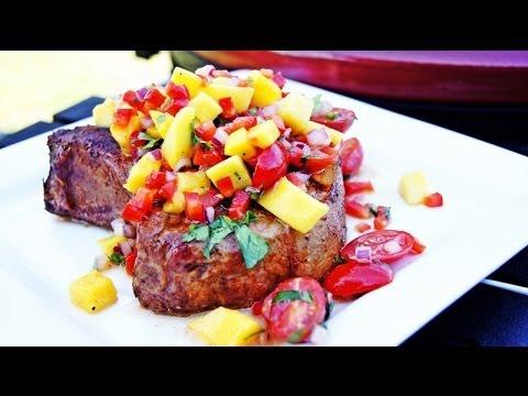 Jamaican Jerk Pork Chops with Mango Salsa Recipe - YouTube