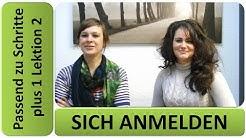Deutsch lernen A1: sich anmelden - Schritte plus 1 Lektion 2 (Übung D3)