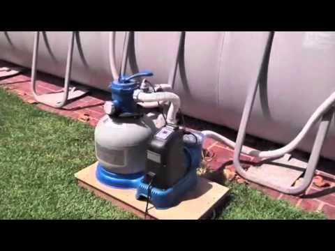 Intex saltwater system sand filter pump 56677eg youtube - Salt water pumps for swimming pools ...