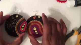 Gambar cover DIY Fabric andwood earrings