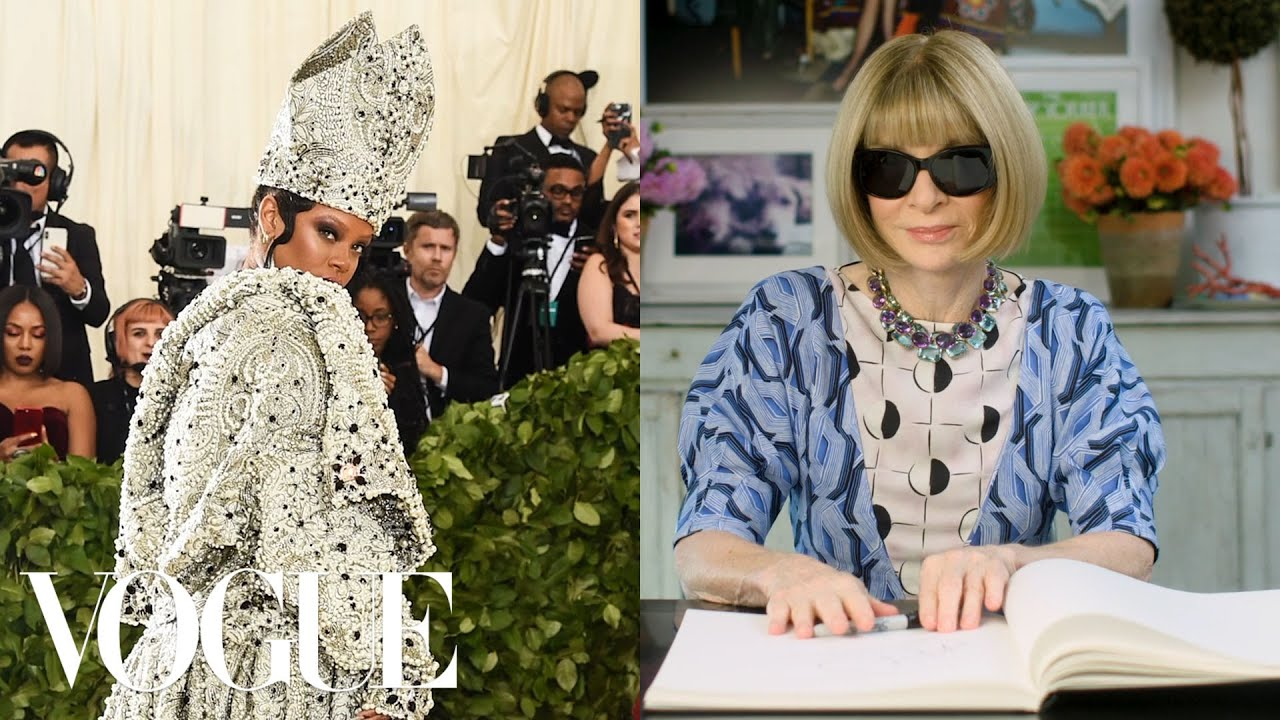 Anna Wintour Breaks Down 13 Met Gala Looks From 1974 to Now   Life in Looks   Vogue