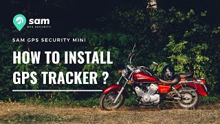 SAM GPS Security Mini - How to install GPS tracker in bikes ?