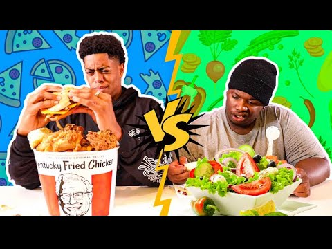 ME AND MALIK SWITCHED DIETS FOR 24HOURS!!