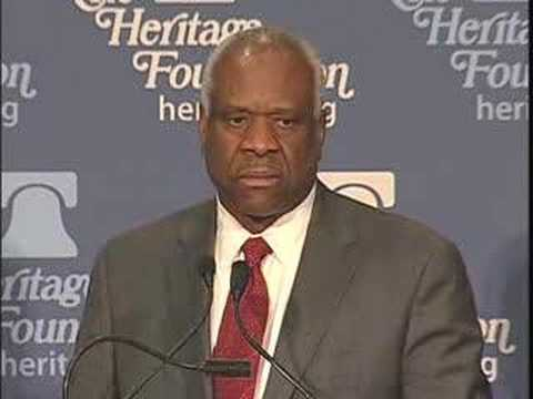 Justice Clarence Thomas Talks to Heritage Members