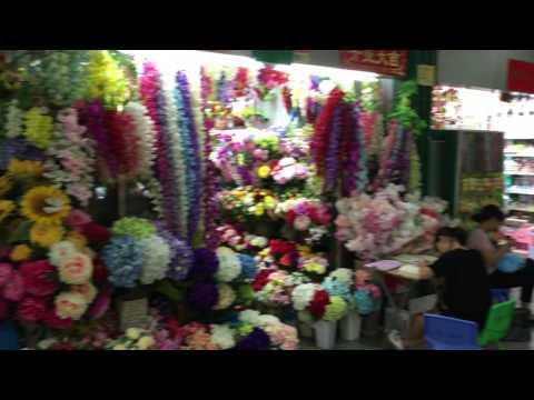 цветы оптом из Китая, оптовый рынок цветов в китайском городе Иу