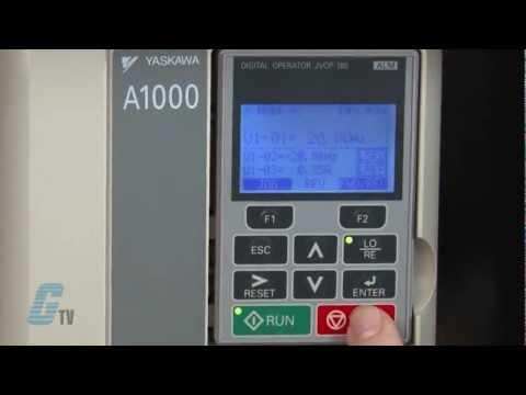 Yaskawa A1000 AC Drive Basic Start Up Using the Keypad
