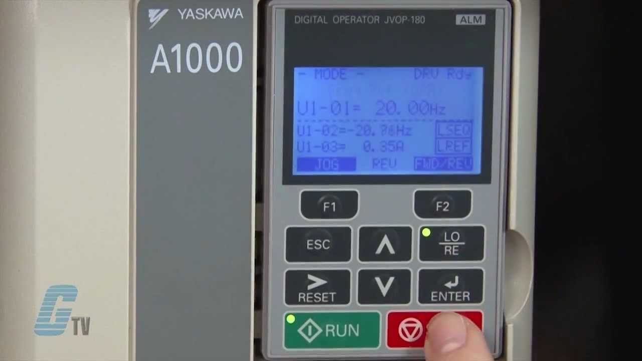 maxresdefault yaskawa a1000 ac drive basic start up using the keypad youtube yaskawa g7 wiring diagram at gsmx.co