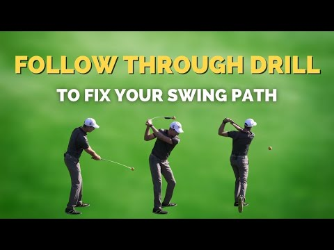 Follow through drill to help you hit it straight