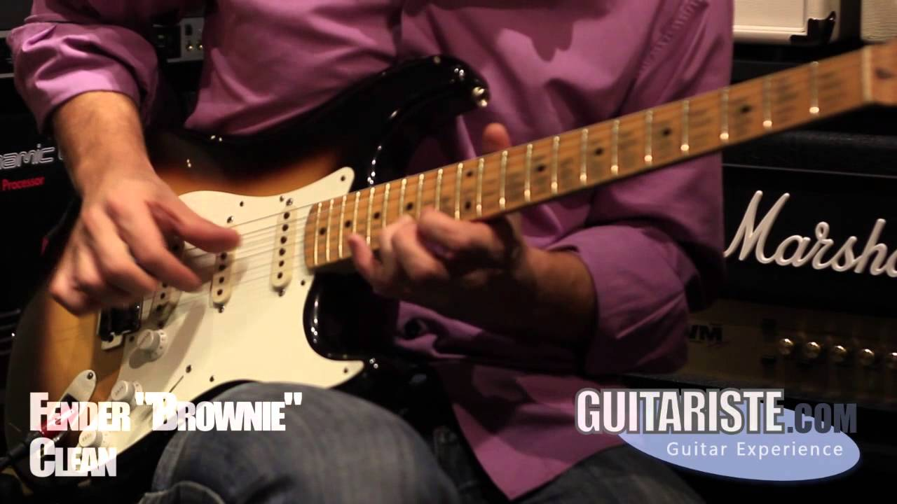 Fender Eric Clapton Brownie Replica Stratocaster Youtube