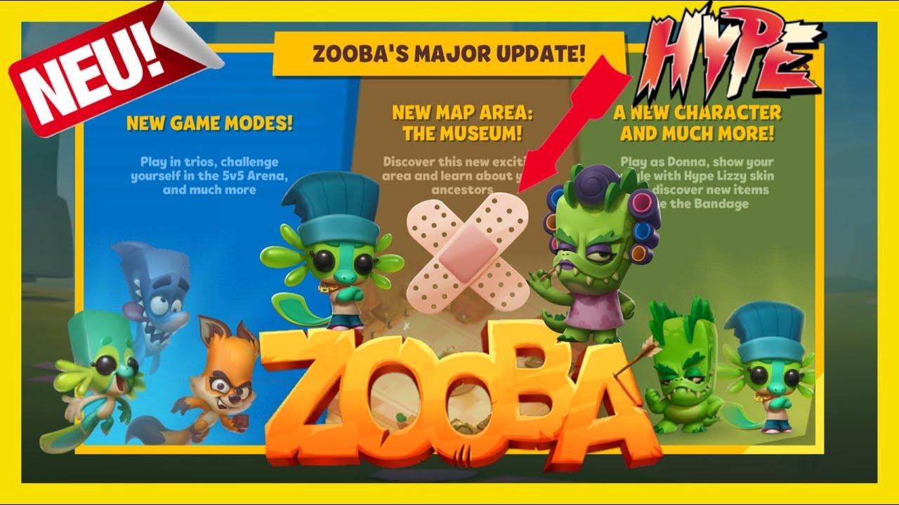 -ZOOBA- Mega Riesen Update! Neue Skins, Charakter, Item & Game Modes! Trio Mode & 5vs5 Action! Hype