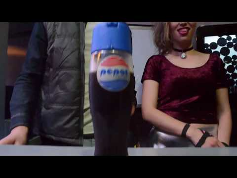 Pepsi event Holograms projection transparent screen augmented reality levitation board