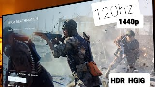 LG OLED TV CX48   Xbox One X 120hz 1440p HDR HGIG Experience BATTLEFIELD V  #BestTV #SELFLITOLED