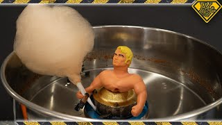 Putting Stretch Armstrong Into a Cotton Candy Machine