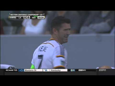 15:09 - LA V SEA - Robbie Keane Foul Throw