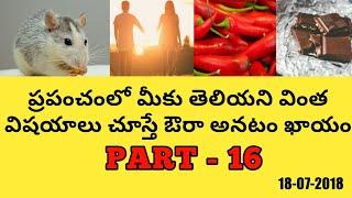 Telugu Intresting Facts Part-16  Telugu Topics 