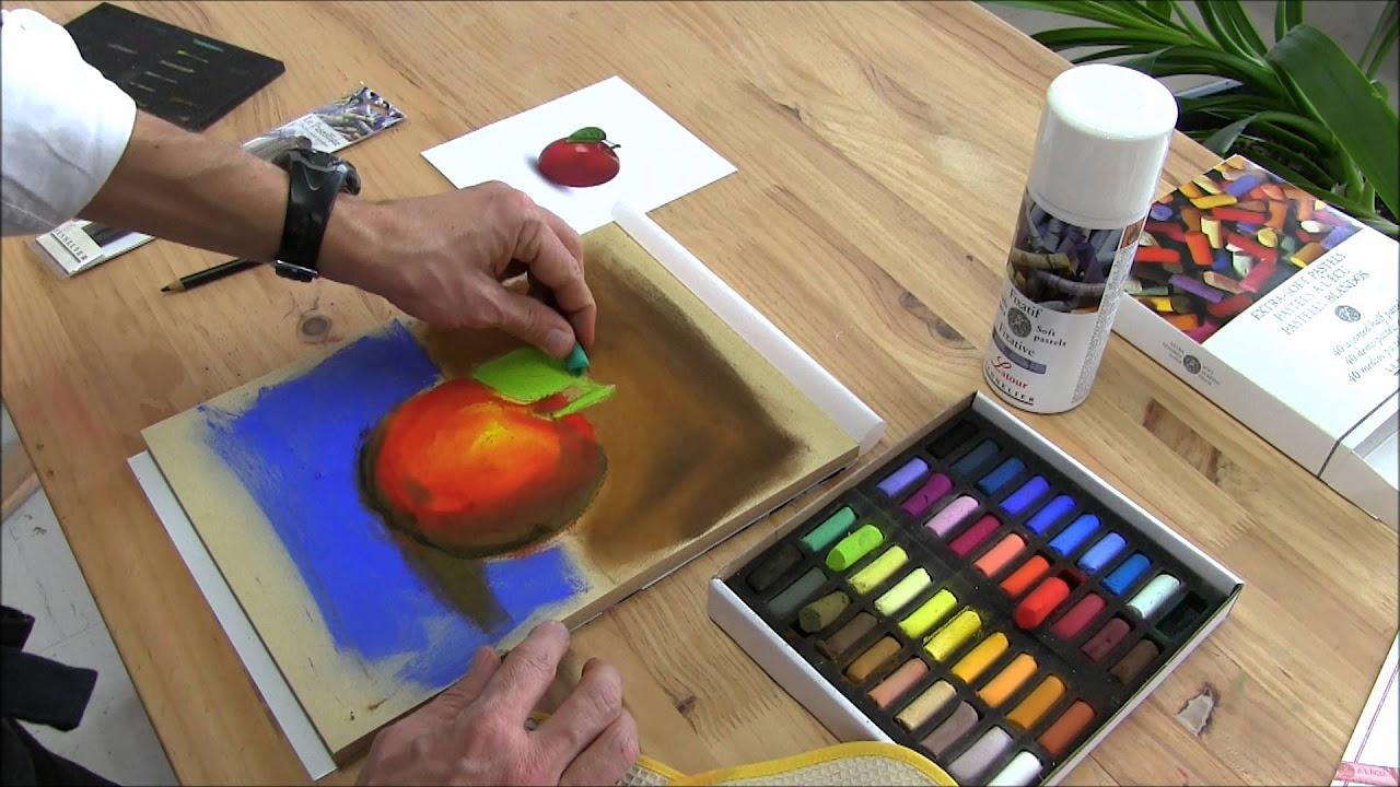 Kolay karakalem elma nasıl  çizilir-Görsel sanatlar dersi etkinlikleri- Step by step apple drawing