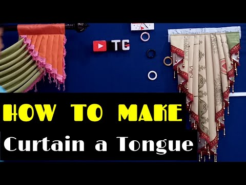 how to make a curtain tongue   TUTORIAL CURTAINS
