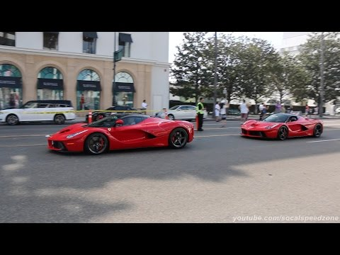 Two LaFerrari's in Beverly Hills