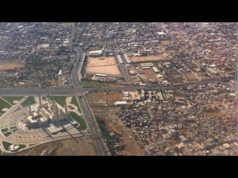 Landing at Sana'a int.l airport on Gulf Air A320-200.