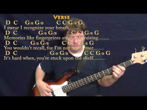 Elderly Woman Behind the Counter in a Small Town - Bass Guitar Cover Lesson with Chords/Lyrics