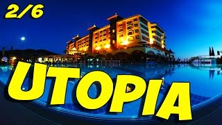 Отель утопия utopia world hotel (часть 2 из 6). В основном здании.(отель utopia world hotel. Отели Турции. Аланья. Часть 2 из 6: в основном здании. Сауна, аля-карты, ресторан, лобби., 2015-10-17T09:40:50.000Z)