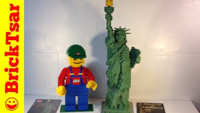 LEGO Sculpture 3450 Statue of Liberty - 2881 pc set Review #awesome ...