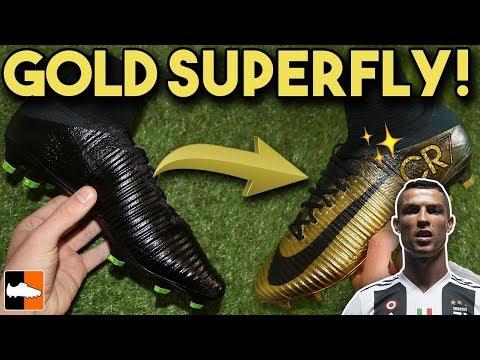 How To Make Rare Gold CR7 Superfly & Vapor - Cristiano Ronaldo Custom Boots