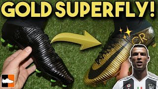 One of Football Boots's most viewed videos: How To Make Rare Gold CR7 Superfly & Vapor - Cristiano Ronaldo Custom Boots