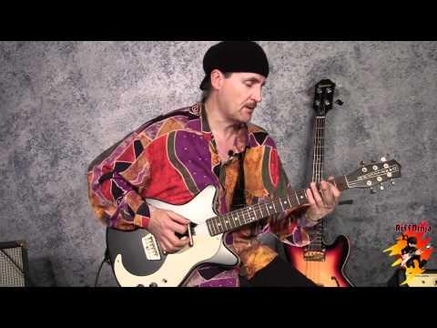 slide guitar: 12 bar blues in open d major tuning