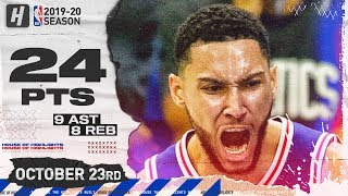 Ben Simmons EPIC Full Highlights vs Boston Celtics (2019.10.23) - 24 Pts, 9 Ast , 8 Reb!