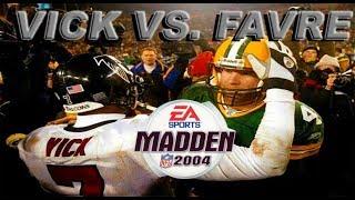 PS2 Madden 2004 Gameplay - Favre vs. Vick!