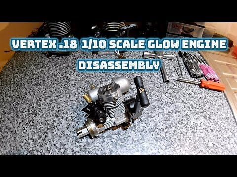 Vertex .18 (Marine Head) 1/10 scale Glow Engine Disassembly