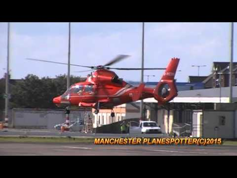 Bond OffShore Helicopter  G-REDG At Blackpool Airport Taxing + Taking Off On 17/09/2015