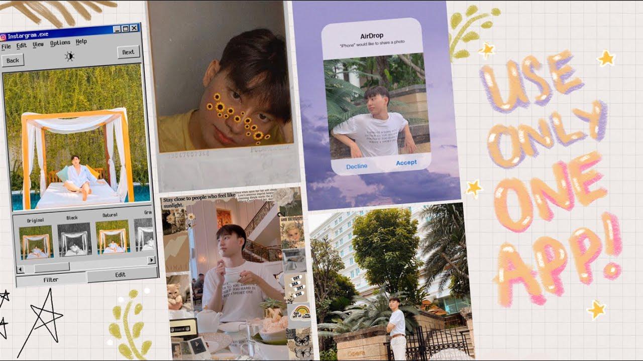 Hôm Nay Tui Chỉ Dùng Một App Để Chụp + Edit Toàn Bộ Hình 📸 | THIEN BAKA