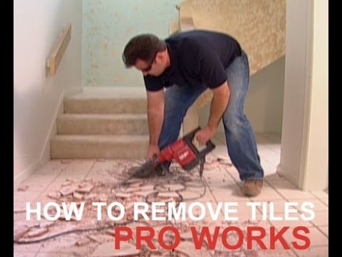 HOW TO REMOVE OLD FLOOR CERAMIC TILES FROM CEMENT SUB FLOOR - YouTube