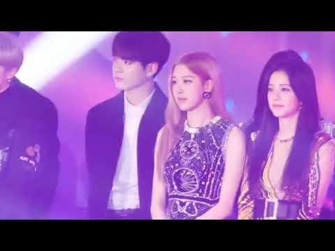 BTS Jungkook - BLACKPINK Rosé / MOONLIGHT (SBS Gayo Daejun 2018 Rosekook Moments)
