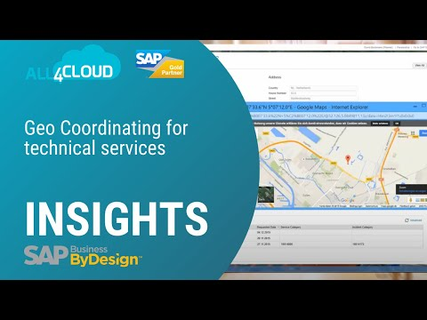 Geo Coordinating with SAP Business ByDesign