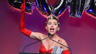 Miley Cyrus Honored at amfAR Gala & Shows Off Armpit Hair!
