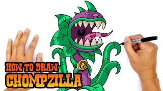 How to Draw Chompzilla (PvZ)- Kids Art Lesson