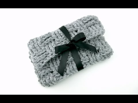 How To Crochet the Woven Ribbon Clutch, Episode 308