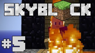 Minecraft- Glen's SkyBlock #5 | To The Nether!