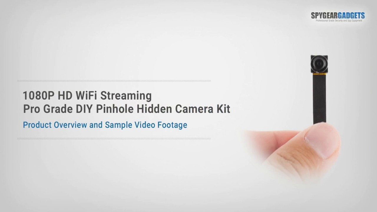 1080p hd wifi streaming professional grade diy pinhole hidden spy camera kit spygeargadgets [ 1280 x 720 Pixel ]