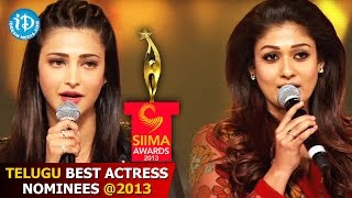 SIIMA Awards 2013 - Telugu Best Actress Nominees