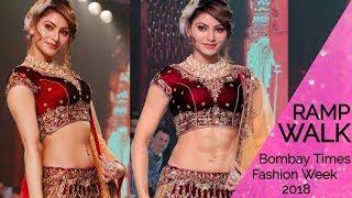 (video) Urvashi Rautela ने बिखेरे Bombay Times Fashion Week 2018 में अपने जलवे