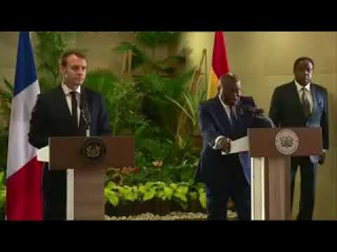 President Akufo Addo and Macron press conference: We can develop our nations ourselves