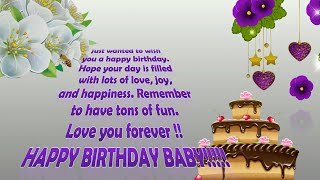 Gambar cover Birthday Wishes for a Special Friend, Happy Birthday Greetings, Messages, Animation, Whatsapp Video