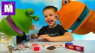 Зубы и жвачки беззубые игрушки на палочке Puppet on a stick